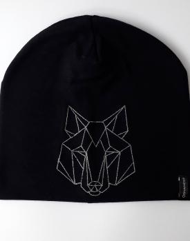"""Cepure ''Lielais vilks"""" melnā krāsā"""