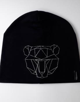 """Cepure ''Lielais lācis"""" melnā krāsā"""