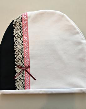 Cepure ar mežģīni - balta