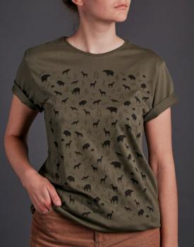 """T-krekls """"Mežs"""" haki krāsā"""