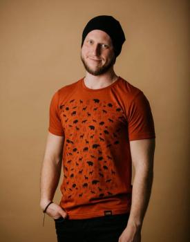 """T-krekls """"Mežs"""" oranžs"""