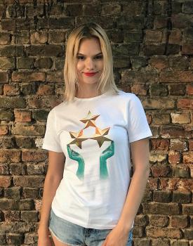 """T-krekls """"Trīs zvaigznes"""" sieviešu"""