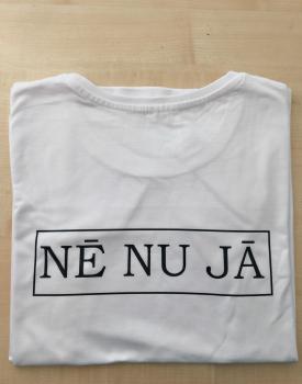 """T-krekls """"Nē nu jā"""" sieviešu (uzraksts mugurpusē)"""