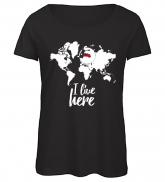 "T-shirt ""I live here"" women's"