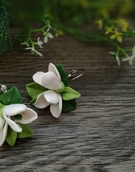 "Earrings ""Snowdrop"""