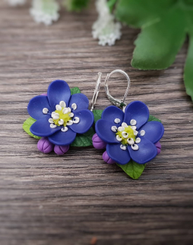 "Earrings ""Anemones"""
