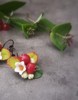 """Earrings """"Cranberries"""""""