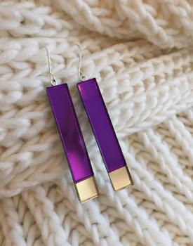 """Spoguļauskari """"Atblāzma"""" violeti"""