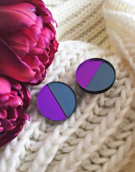 """Spoguļauskari """"Mēness"""" tumši violeti"""