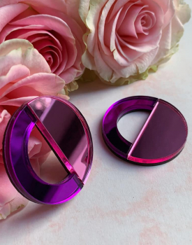 "Spoguļauskari ""Mēness puse"" gaiši violeti"