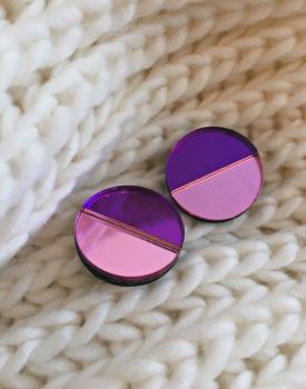 "Spoguļauskari ""Mēness"" gaiši violeti"