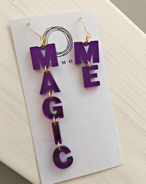 "Mirror earrings ""Magic Me"""