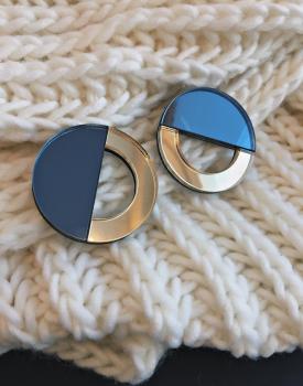 """Spoguļauskari """"Mēness puse"""" zilganpelēki"""