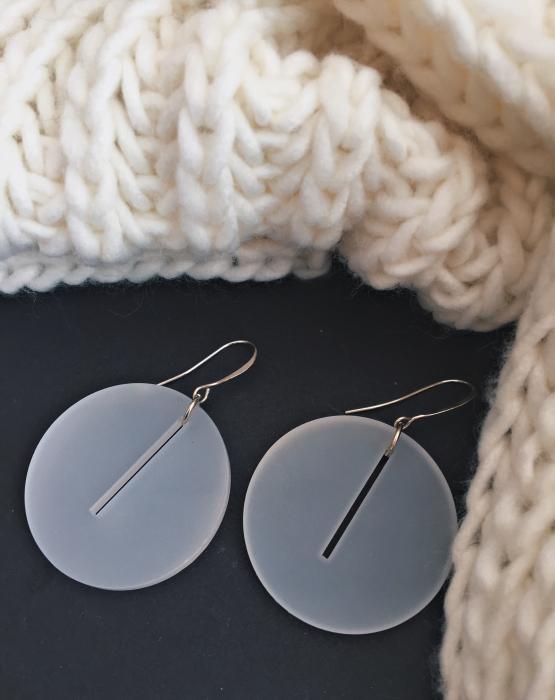 """Earrings """"Circle"""" white"""