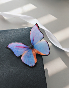 "Brooch ""Purple butterfly"""