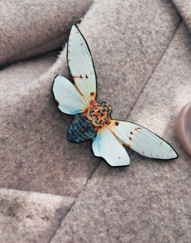 "Brooch ""White butterfly"