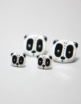 "Porcelāna auskari ""Panda"""
