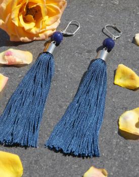 Skaru auskari - tumši zili