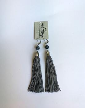 Skaru auskari - pelēki