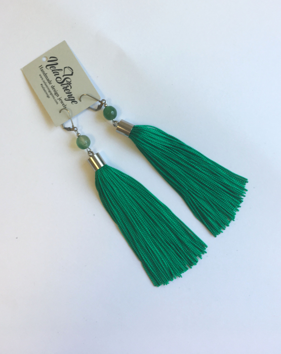 Skaru auskari - zaļi