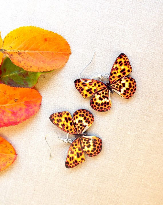 "Earrings ""Butterfly"" - patterned"