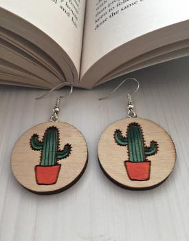 """Koka auskari """"Kaktuss"""""""