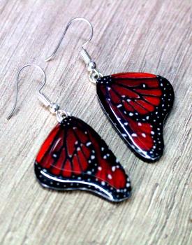"""Auskari """"Taureņu spārni""""  - sarkani"""