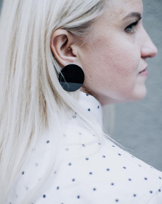 """Metal earrings """"Night"""""""