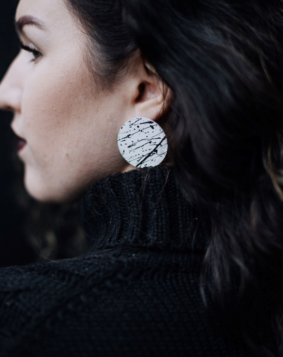 """Metal earrings """"Birch"""""""