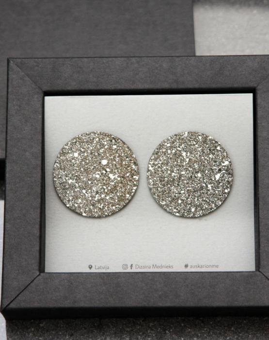 "Metal earrings ""Galaxy"""