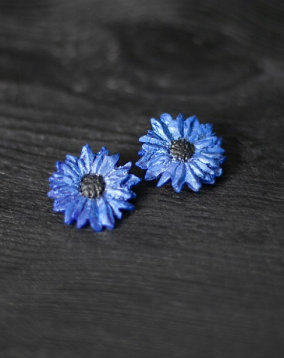 "Earrings ""Blue cornflower"""