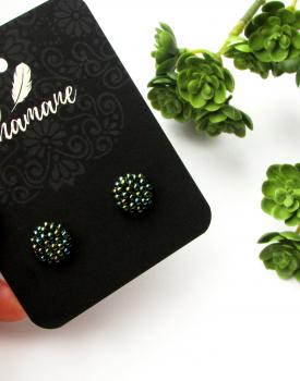 """Earrings """"Everyday Pearl"""" green"""