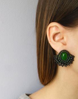 "Earrings ""Evergreen Elegance"""