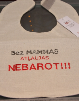 """Bib """"Do not feed without mommy permission"""""""