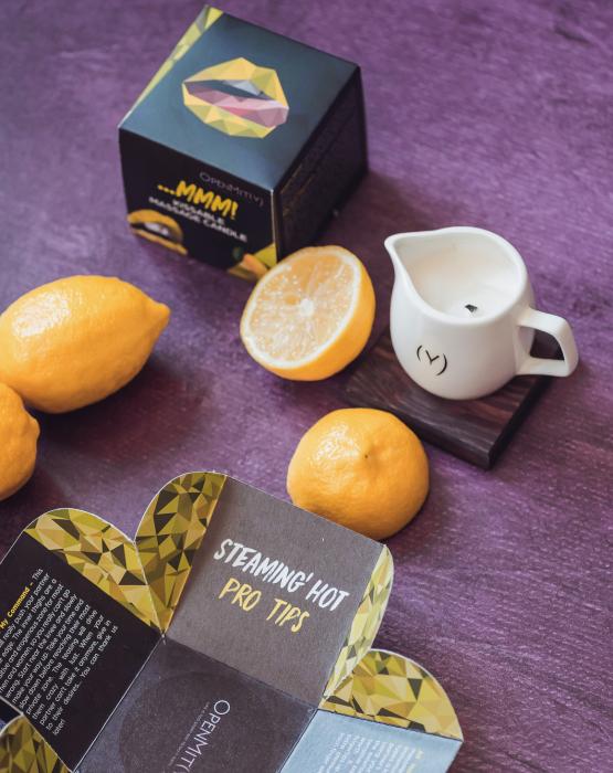 Aromātiska masāžas svece - citrons