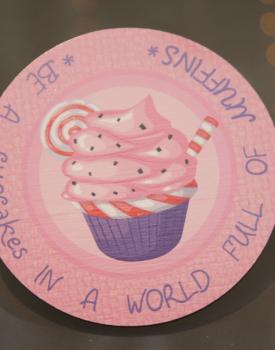 """Krūzes paliktnis """"Cupcake"""" Nr.1"""