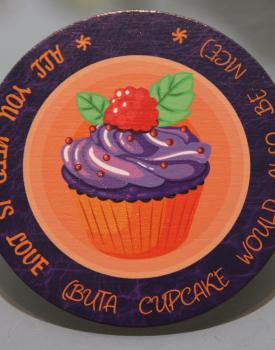 """Krūzes paliktnis """"Cupcake"""" Nr.2"""