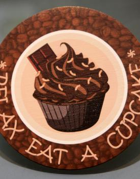 """Krūzes paliktnis """"Cupcake"""" Nr.3"""