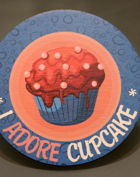 """Krūzes paliktnis """"Cupcake"""" Nr.6"""