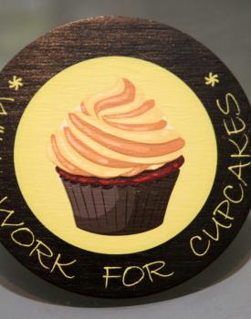 """Krūzes paliktnis """"Cupcake"""" Nr.7"""
