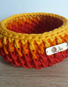 Crocheted basket - coloful