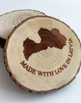 "Krūzes paliktnis ""Made with love in Latvia"""