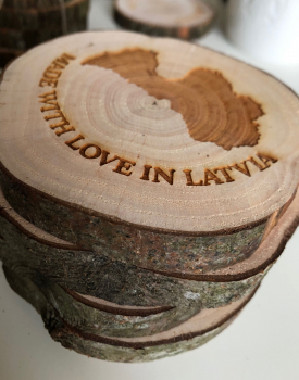 "Krūžu paliktņu komplekts ""Made with love in Latvia"""
