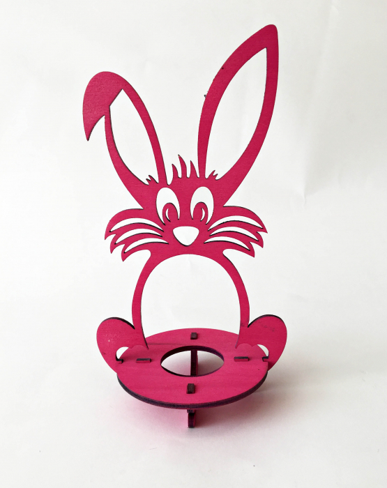 "Egg holder ""Hare"" - pink"