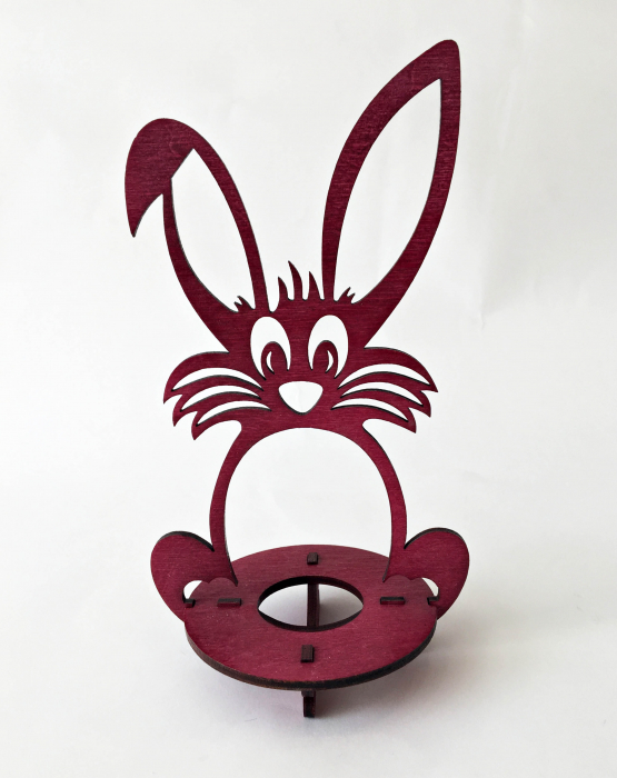 "Egg holder ""Hare"" - dark red"