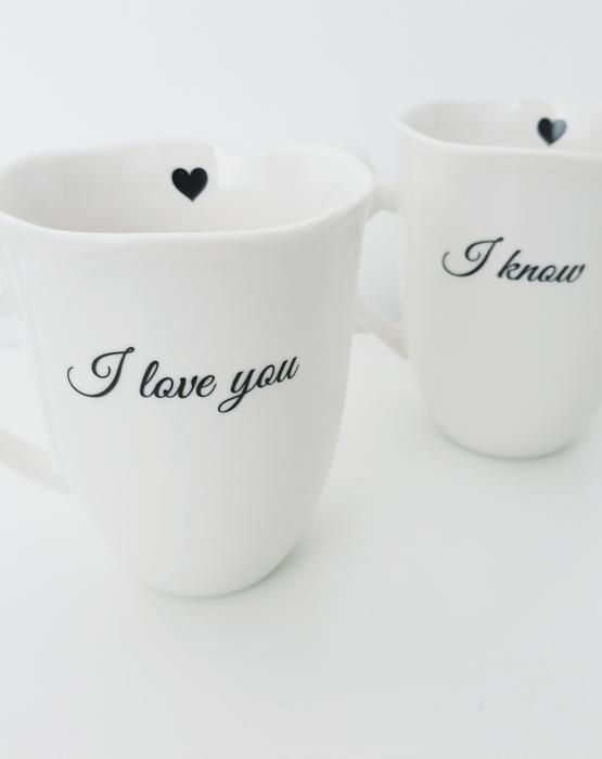 """Krūzes """"I love you - I know"""""""