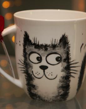 """Krūze """"Romantiskais kaķis"""""""
