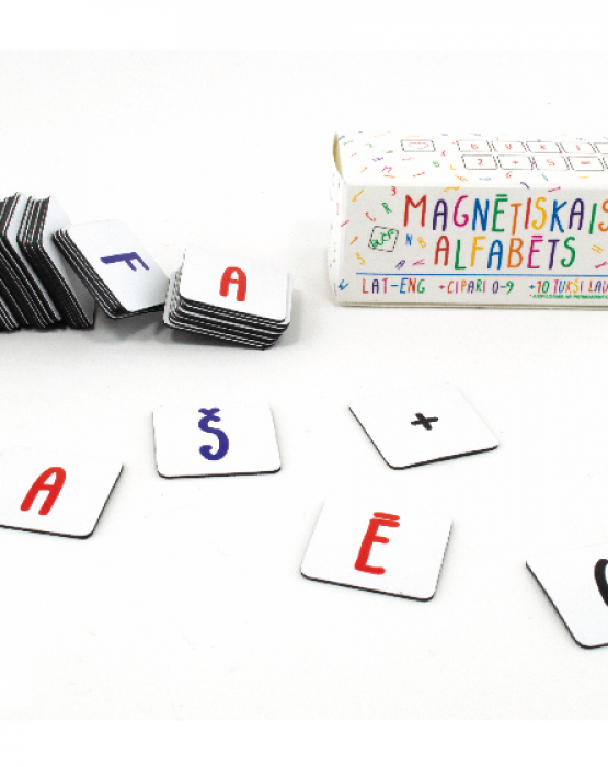 """Magnētiskais alfabēts """"Baltais"""""""