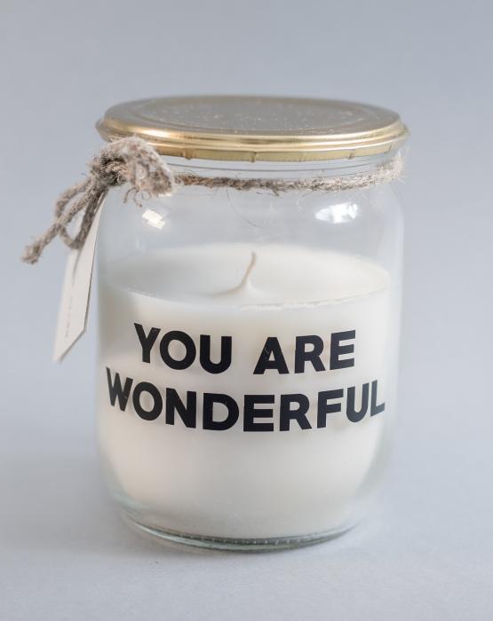 Svece YOU ARE WONDERFUL