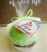 "Candle ""Muffin"" peppermint"